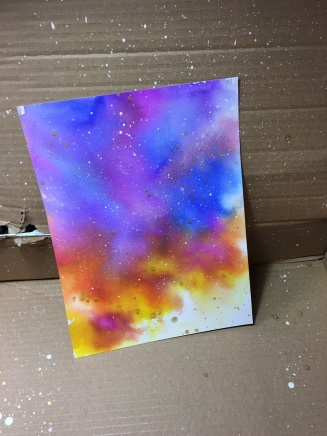 white paint splatter box!this is my