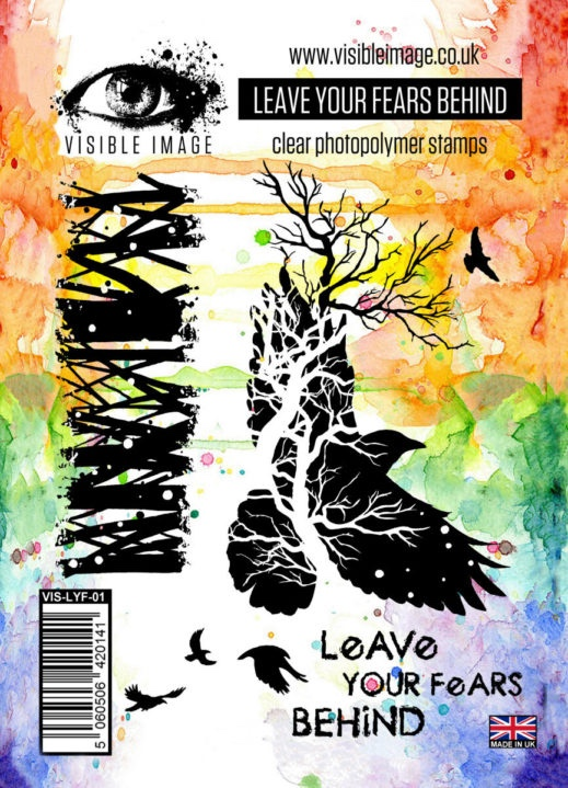 crow stamp - branch - leave your fears behind