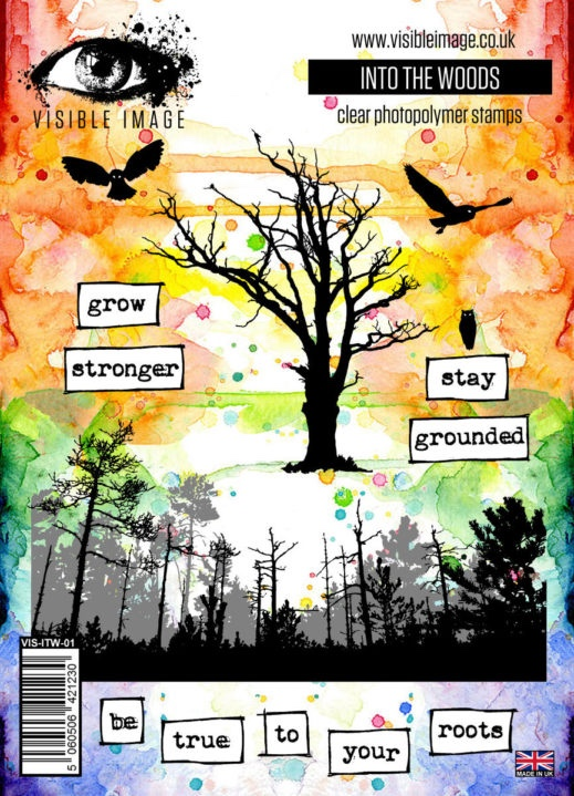 trees stamp - forest - stay grounded